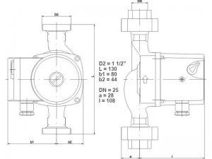 Насос ImpPumps GHN 25/40-130_3